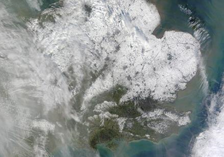 Satallite photo of Great Britain: NASA